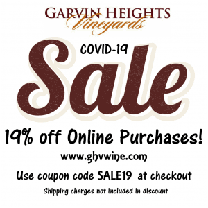 Sale 19% off online wine purchases